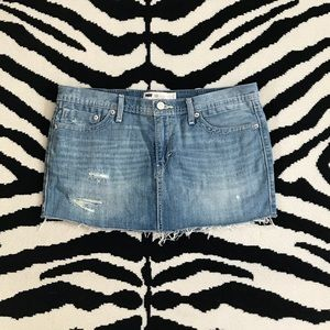 Levi's Distressed Denim Mini Skirt